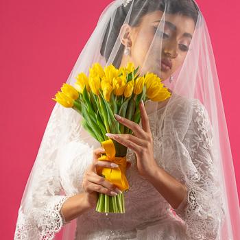 Sarah's Tulip Bridal Bouquet