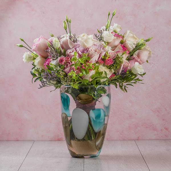 الأشكال الوردي من ساره