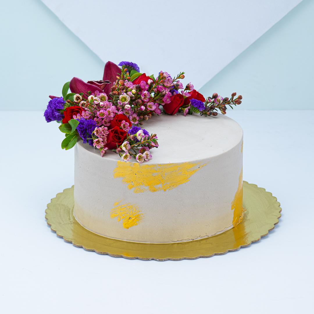 كعكة هلال الزهور
