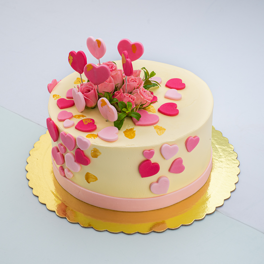 Floating Heart Cake