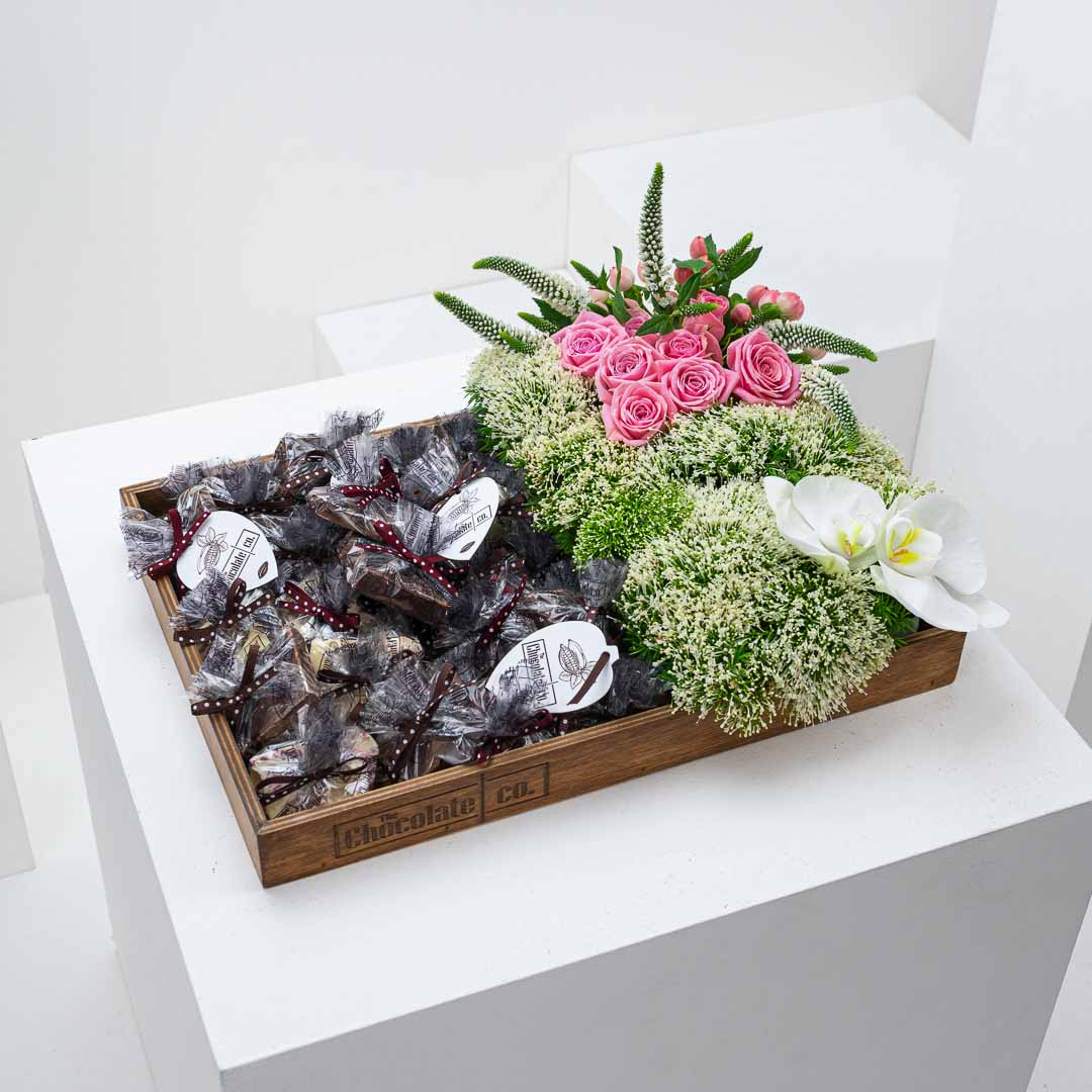 The Chocolate Co. Flower Tray