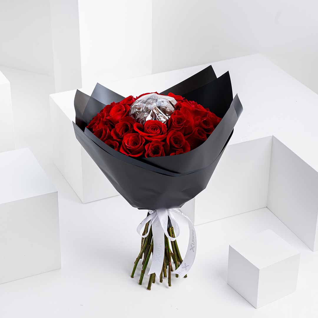 Red chocolate rose