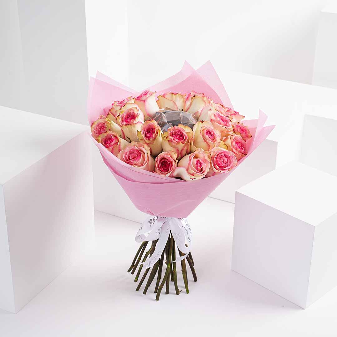 Pink chocolate rose