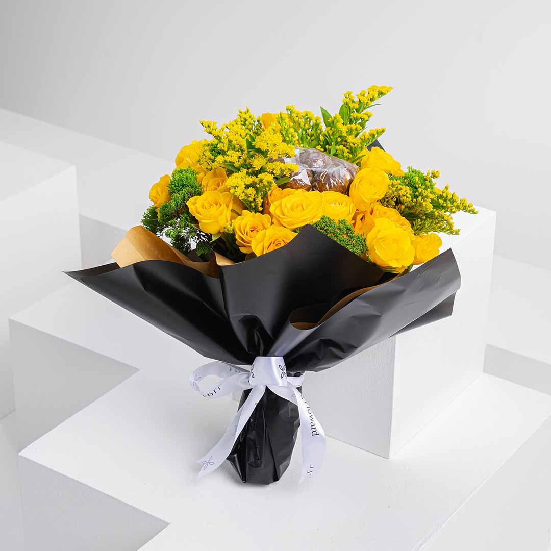 Yellow chocolate rose