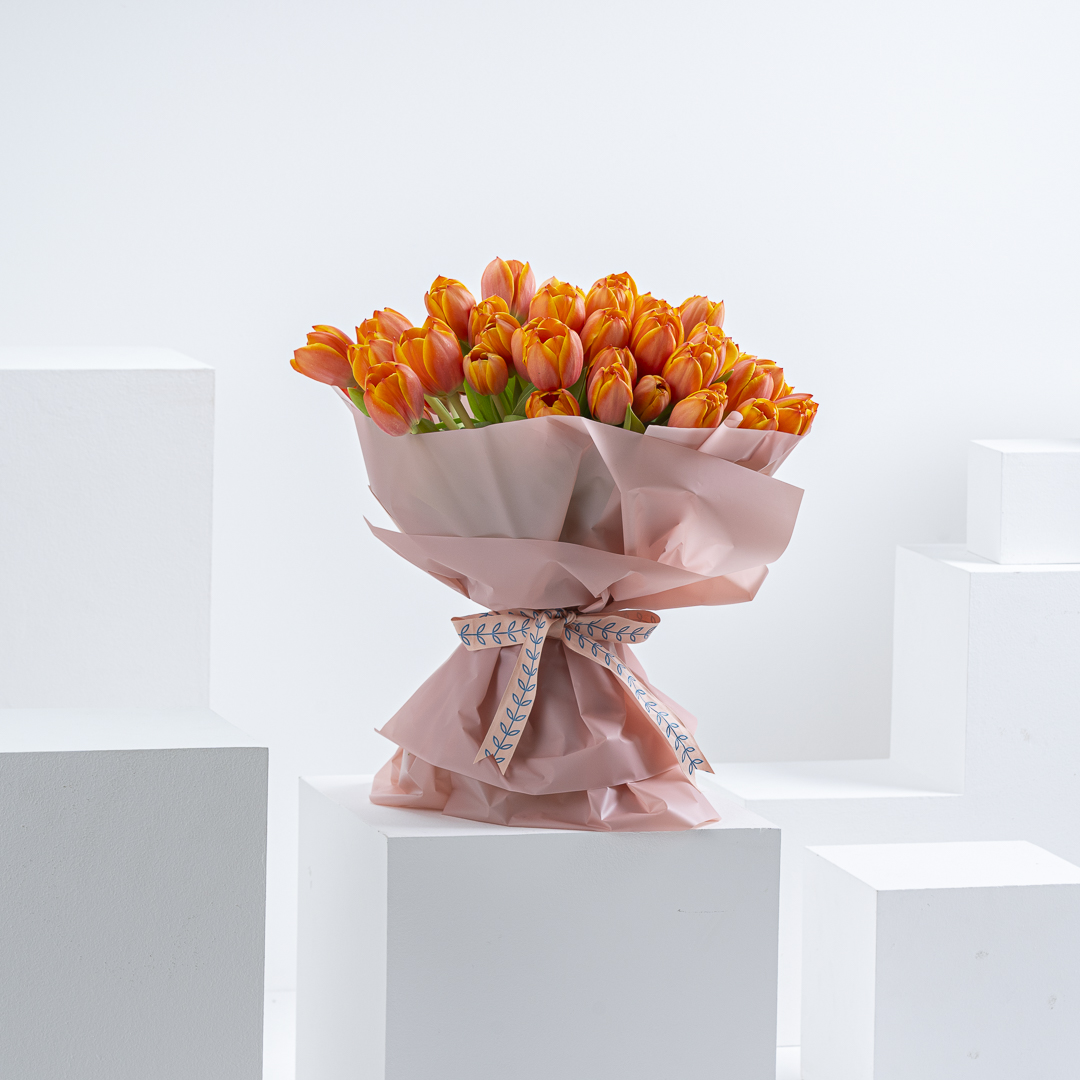 50 Orange Tulips