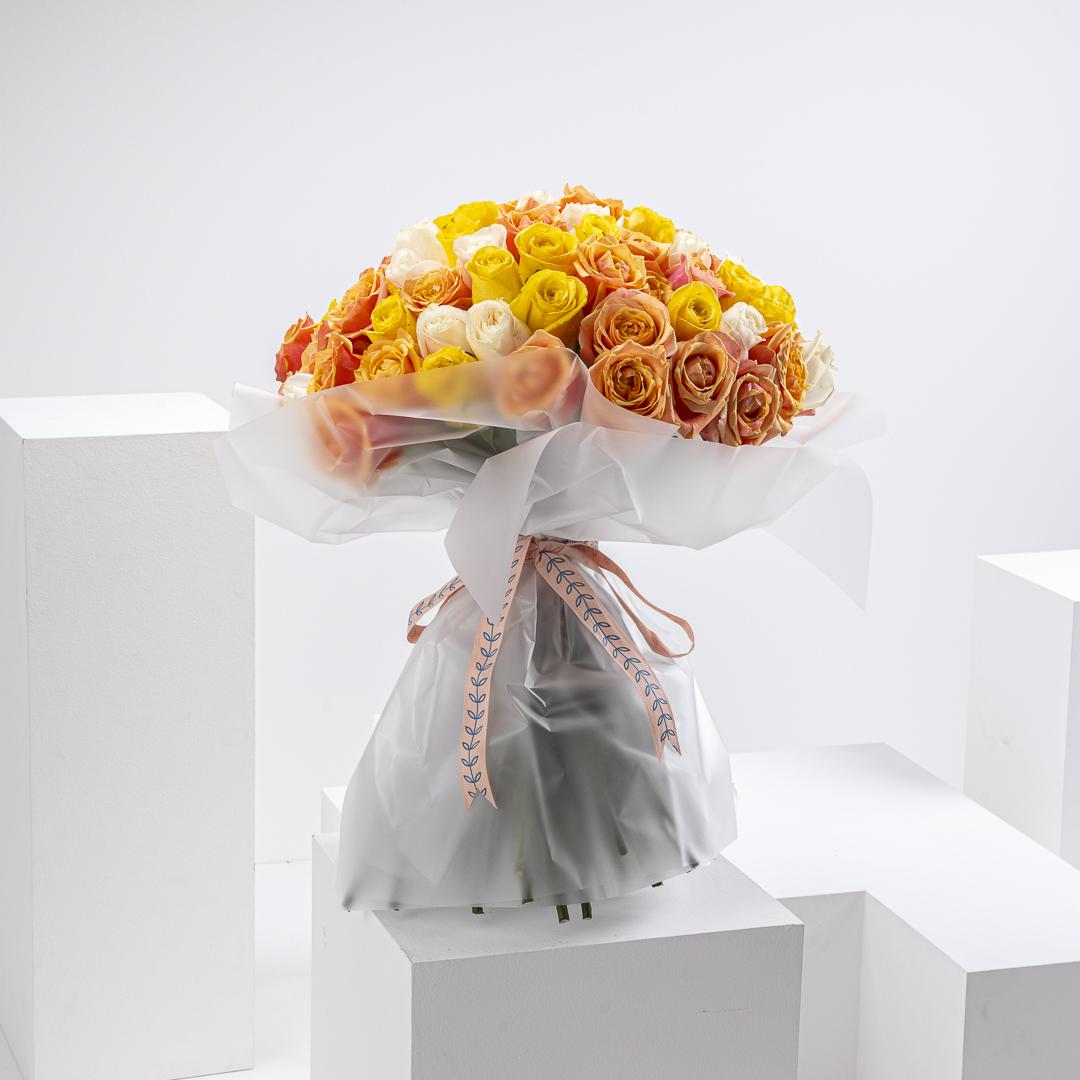 100 Summer mix roses