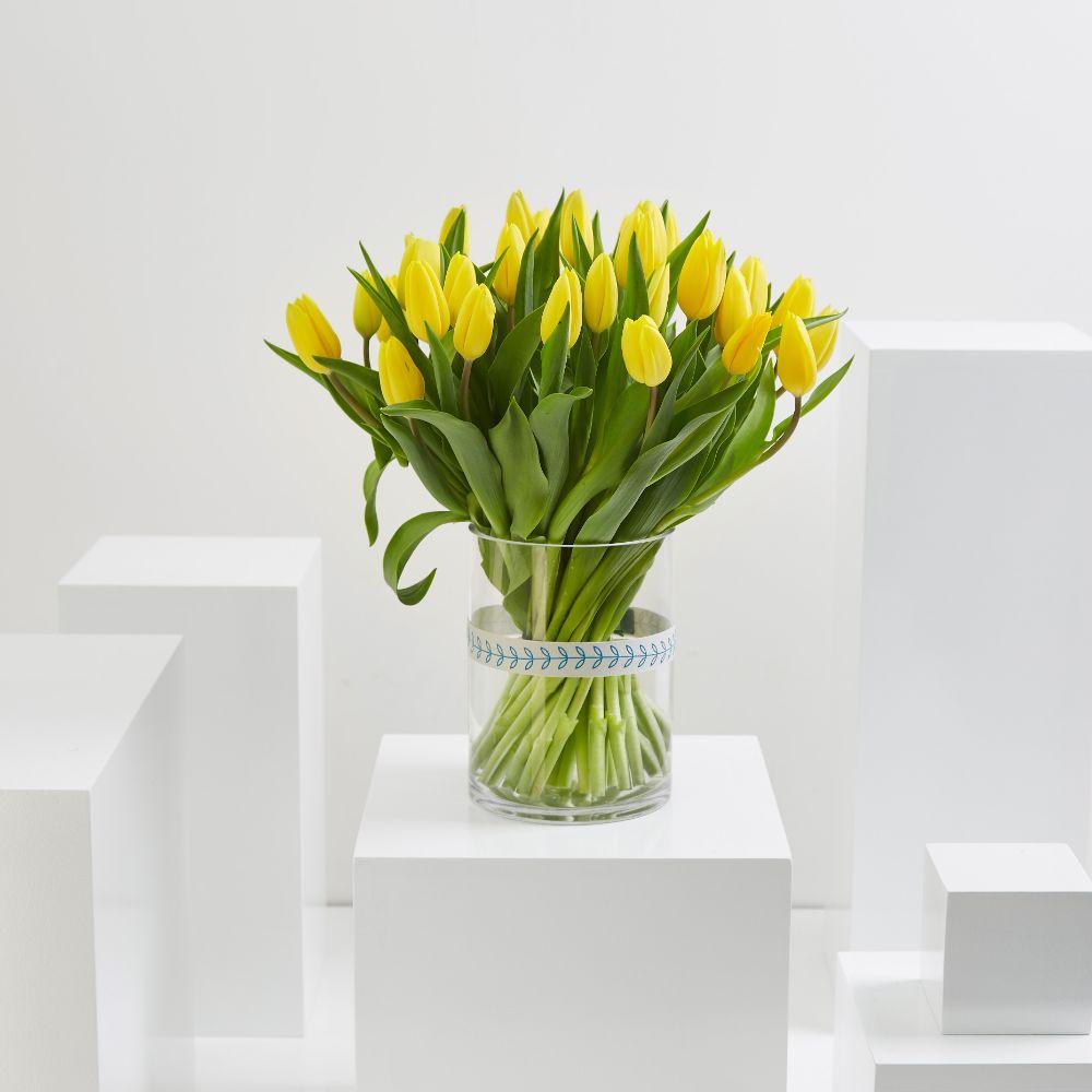35 Yellow Tulip Cylinder