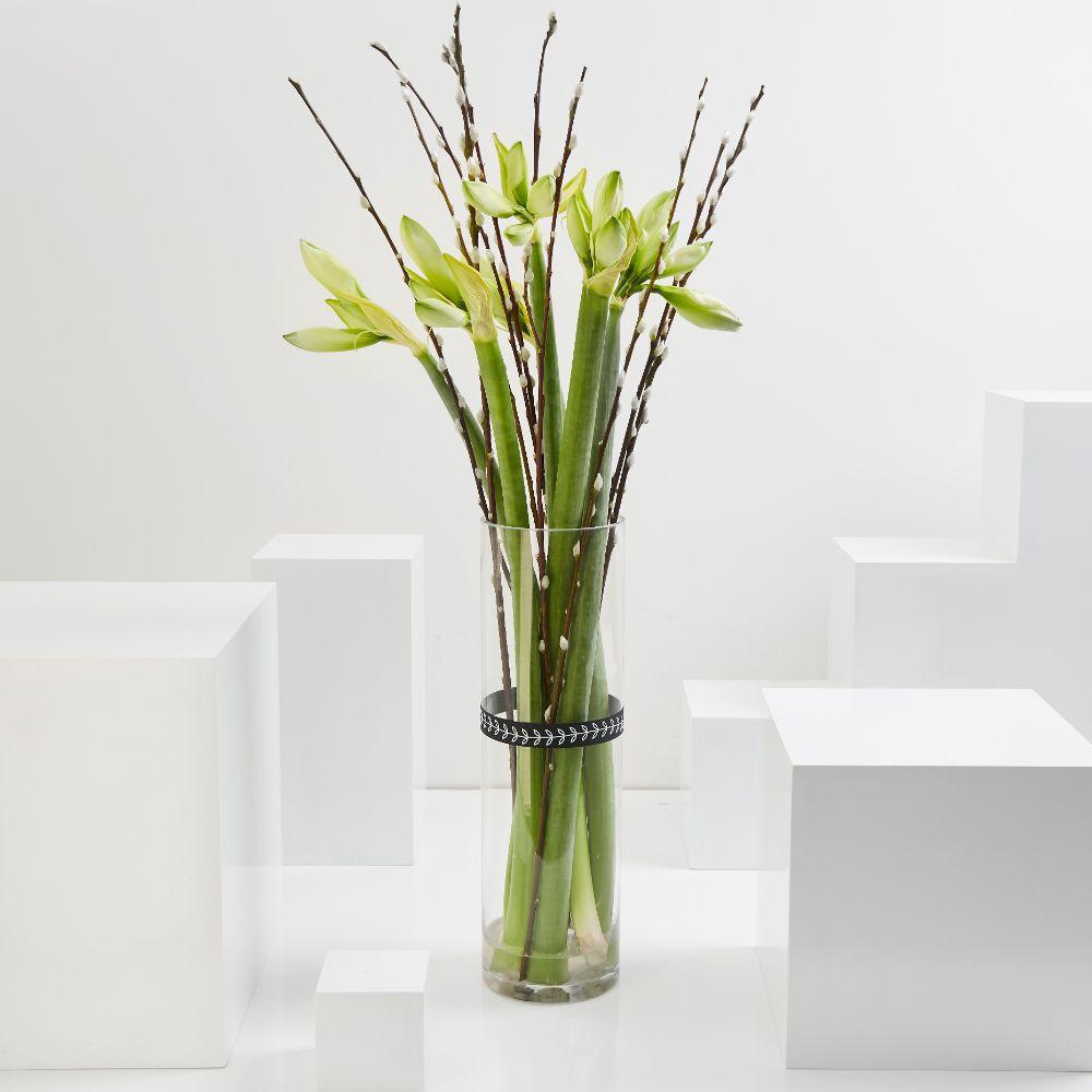 White Amaryllis Cylinder