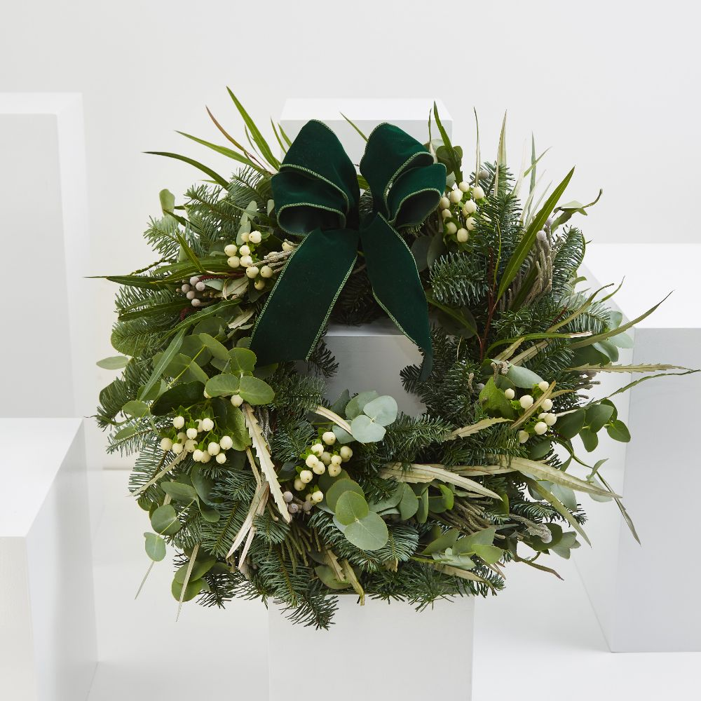 White Festive Wreath