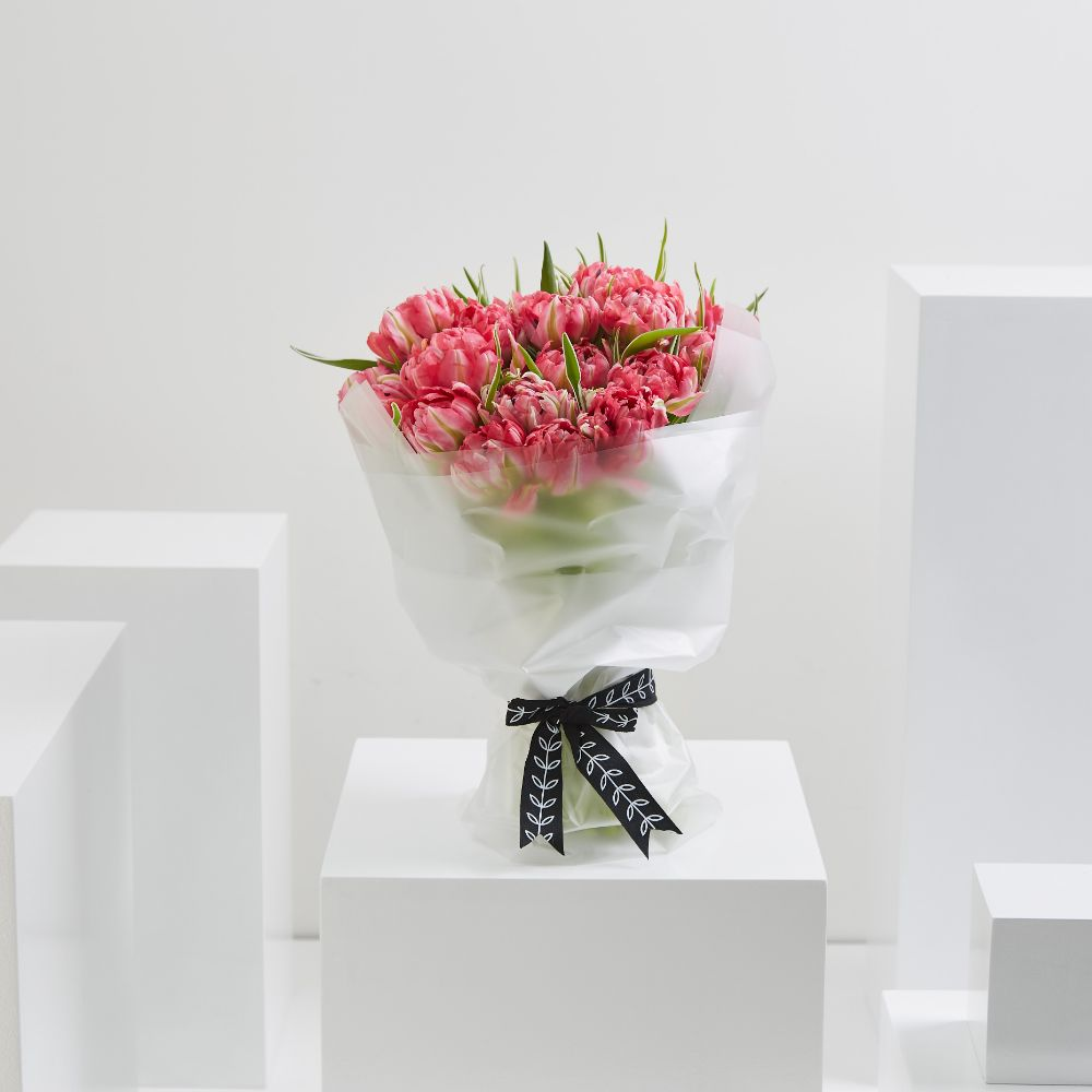 35 Pink Double Tulips