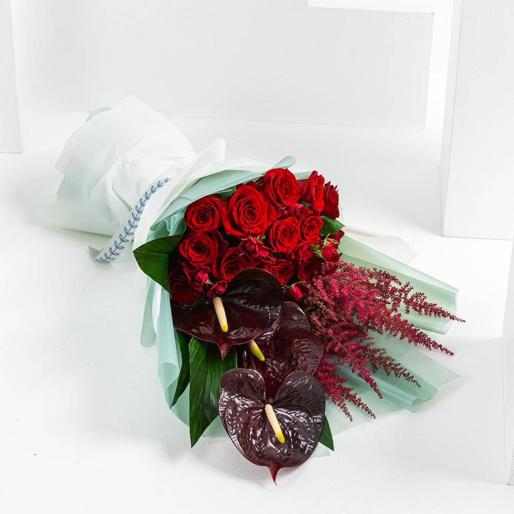 Hamad's Ruby Bouquet