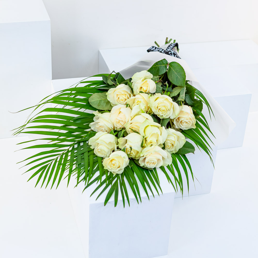 White Rose Open Bouquet
